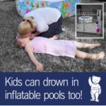 Drowning prevention – Inflatable pool claims toddlers life