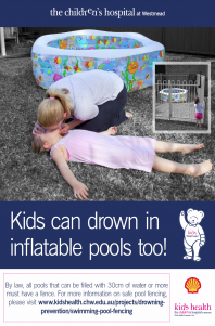 Kids can drown in inflatable pools too! Drowning Prevention Messages
