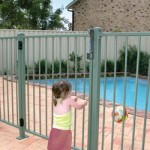 Child kept outside pool by a correctly installed pool fence