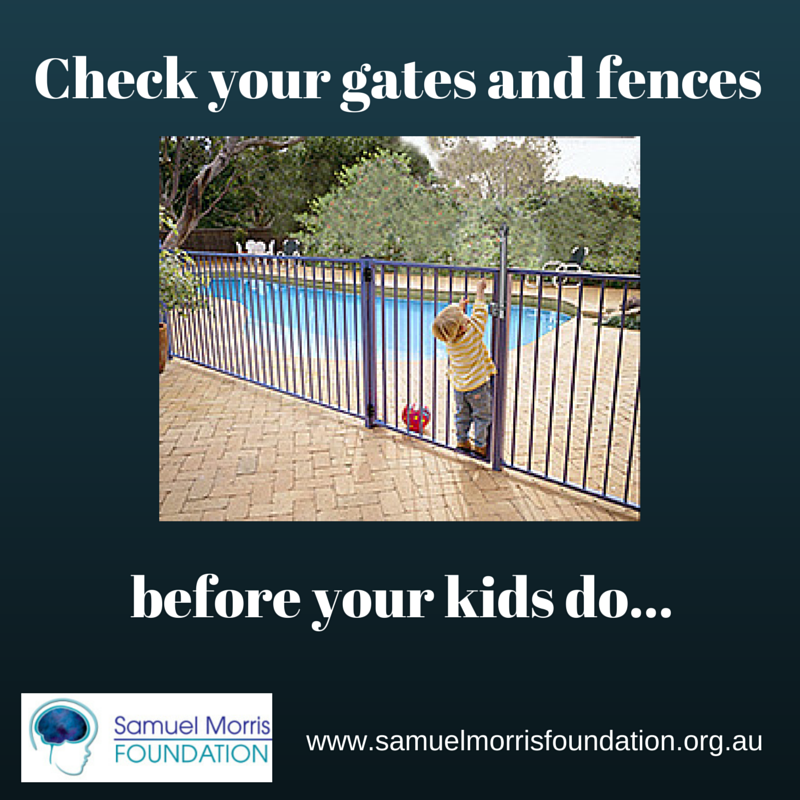 Check your gates and fences before your children do!